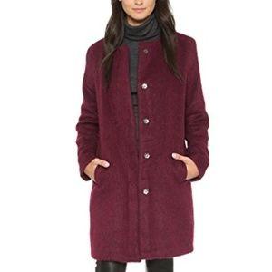 BB Dakota Burgundy Regan Coat